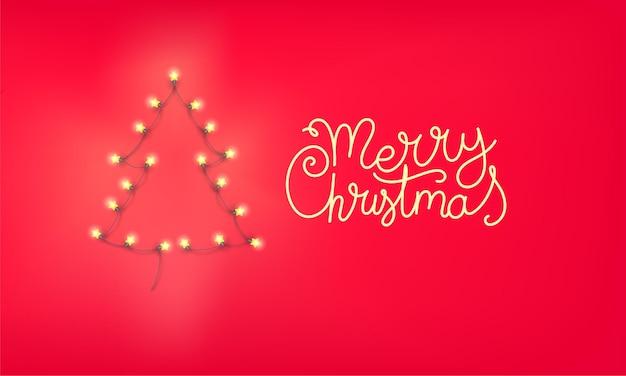 Kerstboom van verlichtingsslinger.