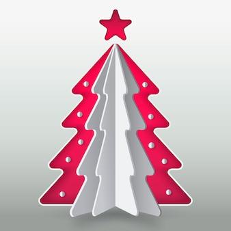 Kerstboomconcept in document stijl