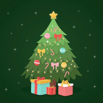 Kerstboomconcept met 2d ontwerp
