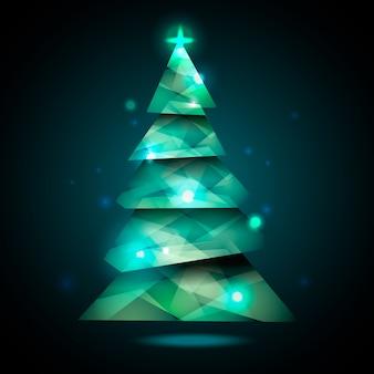 Kerstboomconcept met abstract ontwerp