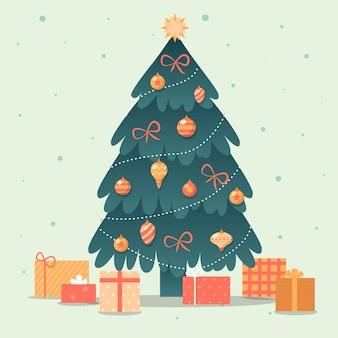 Kerstboomconcept met uitstekend ontwerp
