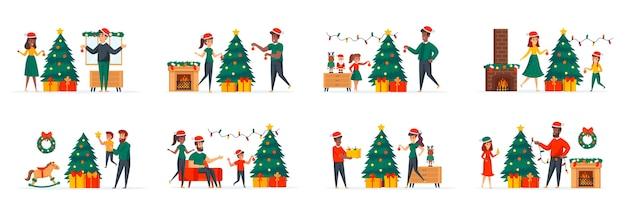 Kerstboomdecoratie bundel scènes