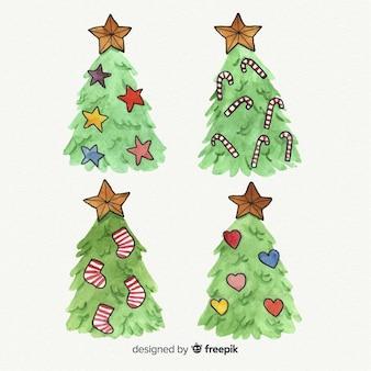Kerstboominzameling ter beschikking getrokken stijl