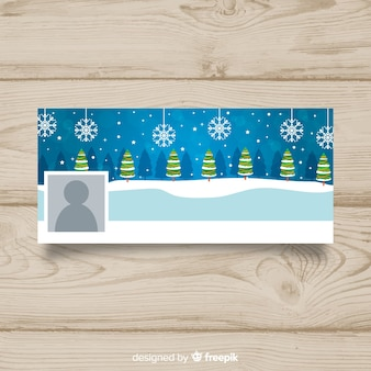 Kerstboomlijn kerst facebook omslag