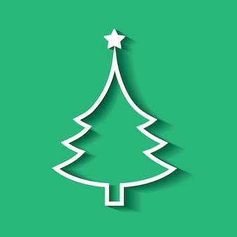 Kerstboomoverzicht kerstkaart