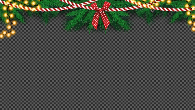 Kerstboomslinger met boog- en bollenslinger