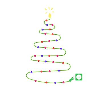 Kerstboomslingers lichtgevende kerstboomstopcontact alternatieve traditionele kerstboom
