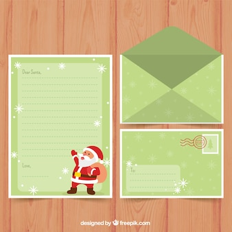 Kerstbrief sjabloon in lichtgroen