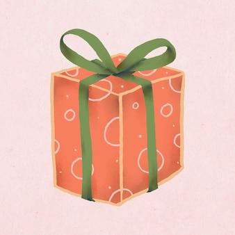 Kerstcadeau doodle, leuke illustratie