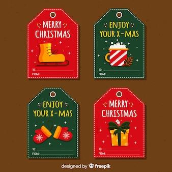 Kerstcadeau tag collectie