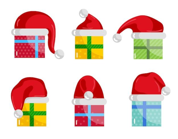 Kerstcadeaus iconen collectie