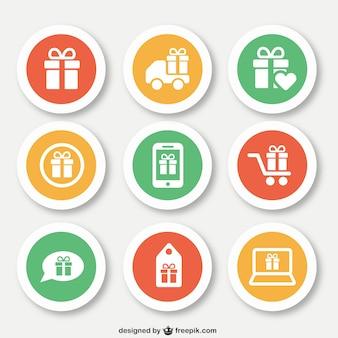 Kerstcadeautjes iconen
