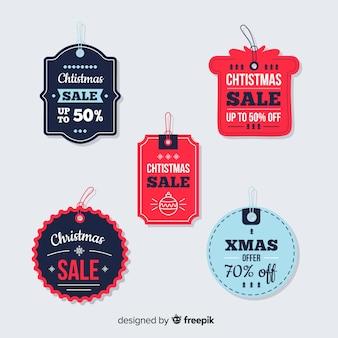 Kerstcollectie tagverkoop in papieren stijl