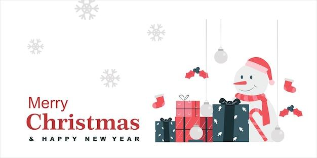 Kerstdag achtergrond met geschenken