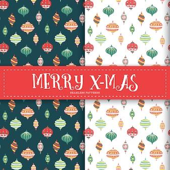 Kerstdecoratie elementen naadloze patronen