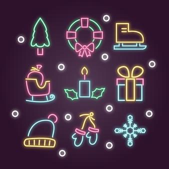 Kerstdecoratie in neon