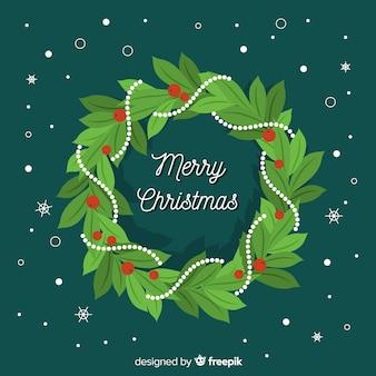 Kerstdecoratie in plat ontwerp
