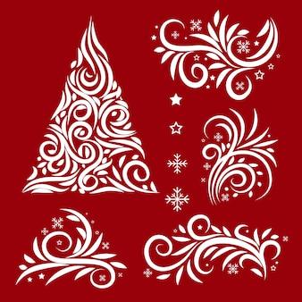Kerstdecoratie kalligrafische