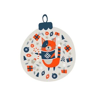 Kerstdecoratie kerstbal.