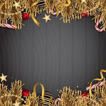 Kerstdecoratie met gouden elementen