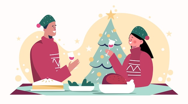 Kerstdiner scène