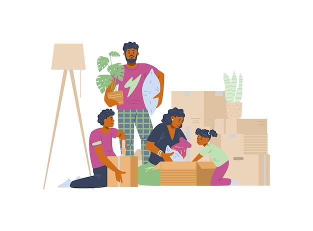 Kerstdonatie met vrijwilliger presenteert speelgoed aan kinderen vectorillustratie