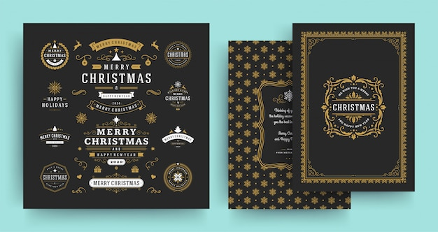 Kerstetiketten en badges