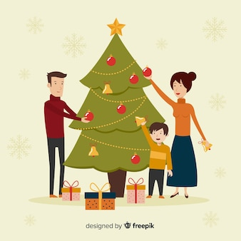 Kerstfamilie