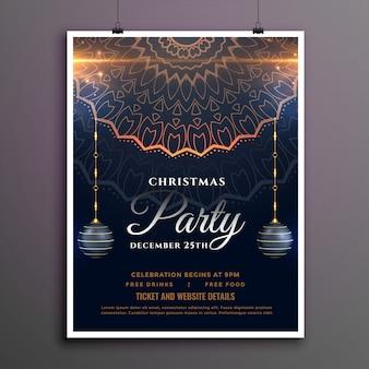 Kerstfeest flyer of poster sjabloon