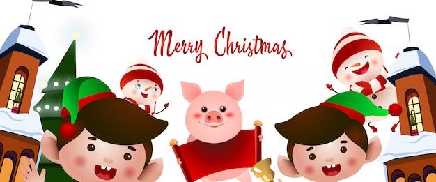 Kerstfeest flyer ontwerp
