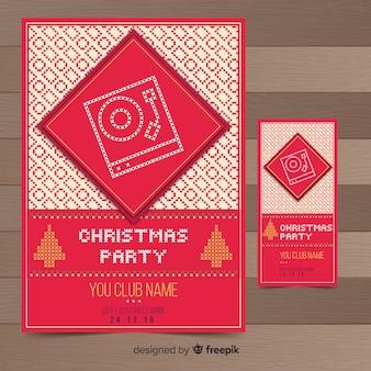Kerstfeest flyer