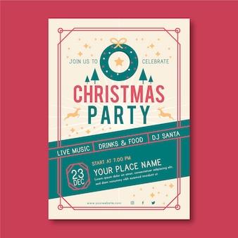 Kerstfeest folder sjabloon geïllustreerd