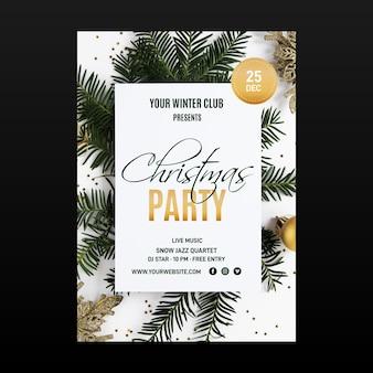 Kerstfeest folder sjabloon met foto