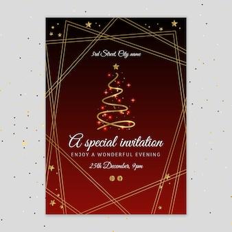 Kerstfeest folder sjabloon
