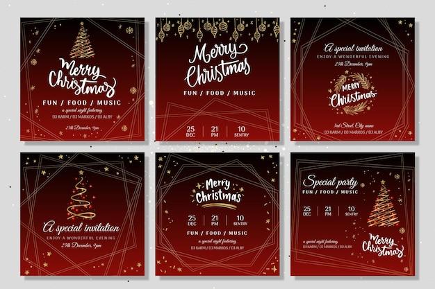 Kerstfeest instagram-verhalen
