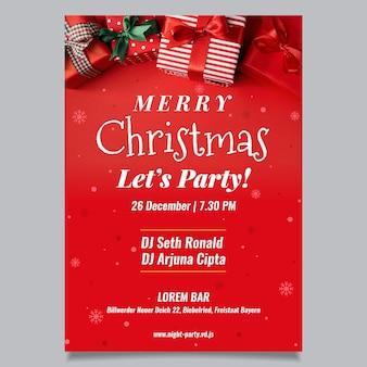 Kerstfeest poster met foto