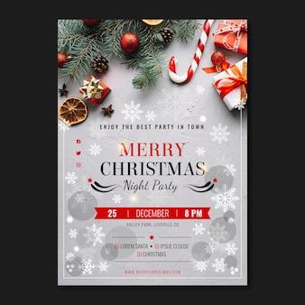 Kerstfeest poster sjabloon