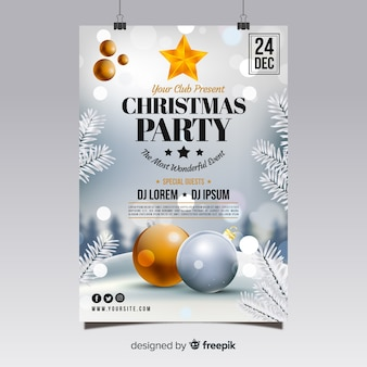 Kerstfeest poster