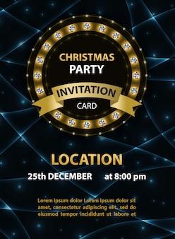Kerstfeest uitnodiging poster