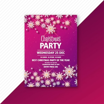 Kerstfeest uitnodiging sjabloon folder