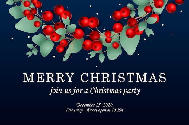 Kerstfeest uitnodiging sjabloon