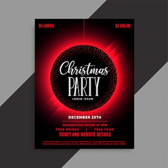 Kerstfeestje evenement uitnodiging folder sjabloon