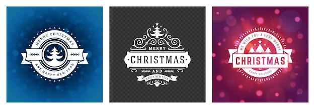 Kerstfoto overlays vintage typografisch ontwerp, sierlijke decoratiesymbolen met wintervakantiewensen, florale ornamenten en bloeiende frames