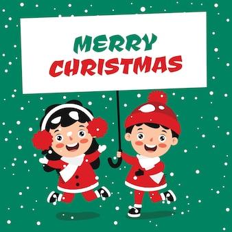 Kerstgroet met stripfiguren