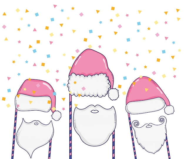 Kersthok rekwisieten tekenfilms