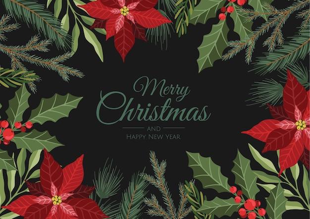 Kerstkaart. geweldig voor nieuwjaarskaarten, banners, headers, feestposters.