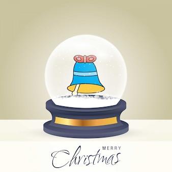 Kerstkaart met creatief elegant ontwerp en globe ook met gouden achtergrond vector