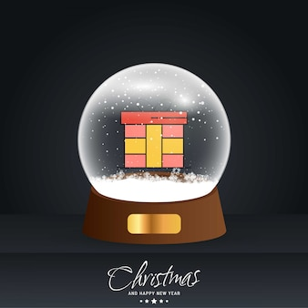 Kerstkaart met creatief elegant ontwerp