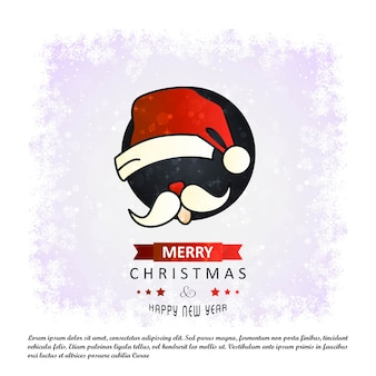 Kerstkaart met elegante ontwerpvector