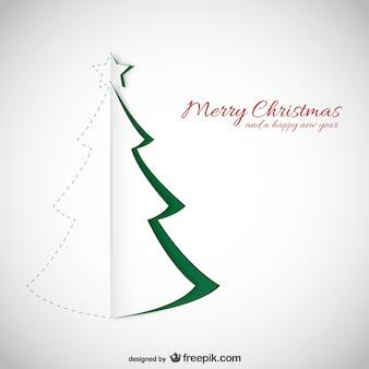 Kerstkaart met papier textuur
